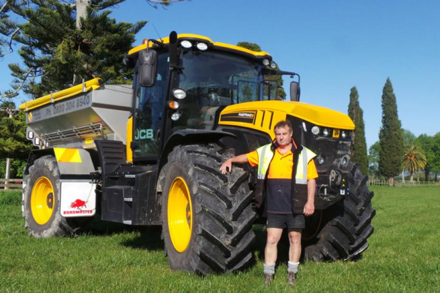 Edgecumbe Spreaders owner Dave Warren.