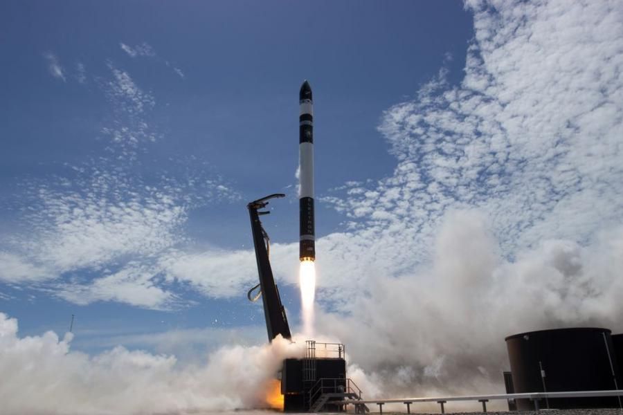 Rocket Lab's Electron rocket lifts off during its second test flight. Photo: Rocket Lab