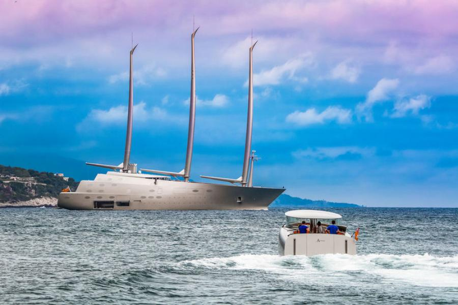 New Zealand and the 142m Sailing Yacht A and her four custom tenders