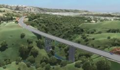 Artist's impression of the completed Cannons Creek Bridge.