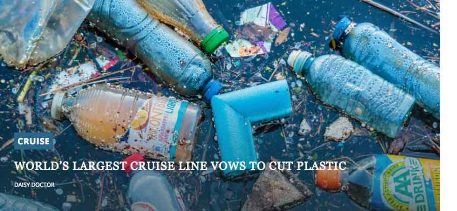 World's largest cruise line vows to cut plastic - will they