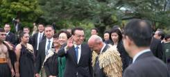 Chinese premier Li keqiang's welcome at Premier House. New Zealand's hawkish stance on Huawei could be problematic for our relationship with China. Photo: Supplied