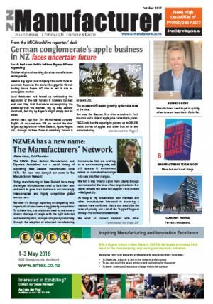 NZManufacturer October 2017 Edition Click on link below to open